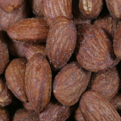 Almonds smoked
